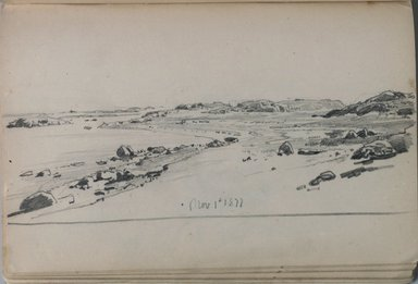 William Trost Richards (American, 1833-1905). Sketchbook, Newport Area, Landscape and Coastal Subjects, 1877. Graphite on paper, 4 7/8 x 7 11/16 in. (12.4 x 19.5 cm). Brooklyn Museum, Gift of Edith Ballinger Price, 75.15.14