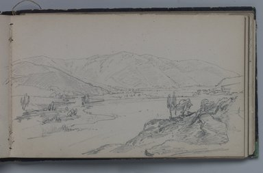William Trost Richards (American, 1833-1905). Sketchbook of American and Italian Subjects, 1855-1856. Sketchbook containing drawings in graphite on wove paper, 4 1/16 x 6 5/8 x 3/8 in. (10.3 x 16.8 x 1 cm). Brooklyn Museum, Gift of Edith Ballinger Price, 75.15.2