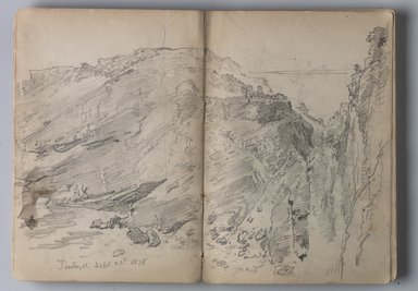 William Trost Richards (American, 1833-1905). Sketchbook of English Landscape and Coastal Scenery, 1878. Pencil on paper, 5 1/8 x 7 7/16 in. (13 x 18.9 cm). Brooklyn Museum, Gift of Edith Ballinger Price, 75.15.3
