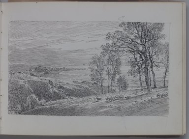 William Trost Richards (American, 1833-1905). Sketchbook, Marines and Landscapes, ca. 1890. Pencil or ink on paper, 5 x 6 15/16 in. (12.7 x 17.6 cm). Brooklyn Museum, Gift of Edith Ballinger Price, 75.15.4