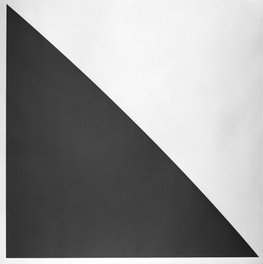 Ellsworth Kelly (American, 1923-2015). Green Curve with Radius of 20 Feet, 1974. Lithograph with embossed plate, Sheet: 36 3/4 x 35 7/8 in. (93.3 x 91.1 cm). Brooklyn Museum, Designated Purchase Fund, 75.16.4. © Ellsworth Kelly and Committee to Endow a Chair in Honor of Meyer Shapiro at Columbia University, New York