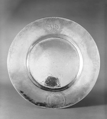 Platter, ca. 1630-1631. Silver, diameter: 10 in. Brooklyn Museum, Gift of Donald S. Morrison, 75.162.1. Creative Commons-BY