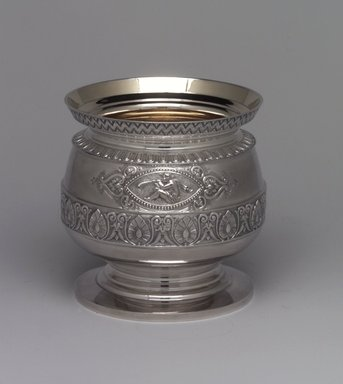 J. E. Caldwell & Co.. Slop Bowl, ca. 1875. Silver, 5 1/16 x 4 15/16 x 4 15/16 in. (12.9 x 12.5 x 12.5 cm). Brooklyn Museum, H. Randolph Lever Fund, 75.164.4. Creative Commons-BY