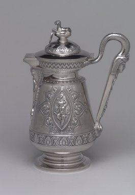 J. E. Caldwell & Co.. Creamer with Hinged Cover, ca. 1875. Silver, 8 1/4 x 5 7/8 x 3 5/8 in. (21 x 14.9 x 9.2 cm). Brooklyn Museum, H. Randolph Lever Fund, 75.164.6. Creative Commons-BY
