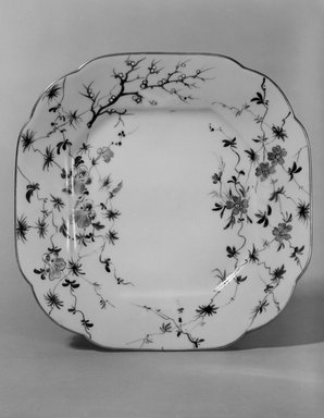 Union Porcelain Works (1863-ca. 1922). Plate (One From a Set of Five), ca. 1879-1891. Porcelain, 7/8 x 7 1/4 x 7 1/4 in. (2.2 x 18.4 x 18.4 cm). Brooklyn Museum, H. Randolph Lever Fund, 75.165.2. Creative Commons-BY