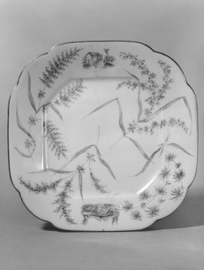 Brooklyn Museum: Plate (One From a Set of Five)