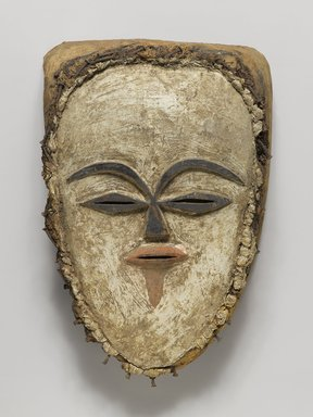 Tsogho. Face Mask, late 19th-early 20th century. Raffia, iron, 12 x 7 3/4 x 4 in. (30.5 x 19.7 x 10.2 cm). Brooklyn Museum, Gift of Mr. and Mrs. J. Gordon Douglas III, 75.189.10. Creative Commons-BY
