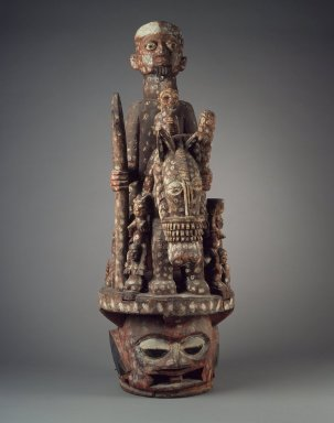 Yoruba. Epa Mask, early 20th century. Wood, paint, ferrous nails, 46in. (116.8cm). Brooklyn Museum, Gift of Jerome Furman, 75.190. Creative Commons-BY