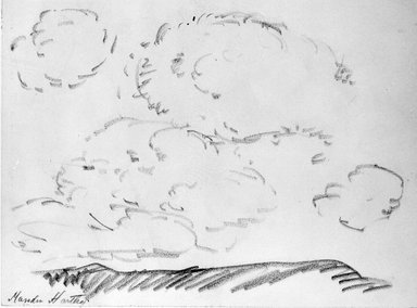 Marsden Hartley (American, 1877-1943). Landscape, n.d. Graphite on paper, Sheet: 9 x 12 1/16 in. (22.9 x 30.6 cm). Brooklyn Museum, Gift of Mr. and Mrs. H. Lawrence Herring, 75.211.1. © Estate of Marsden Hartley, Yale University Committee on Intellectual Property
