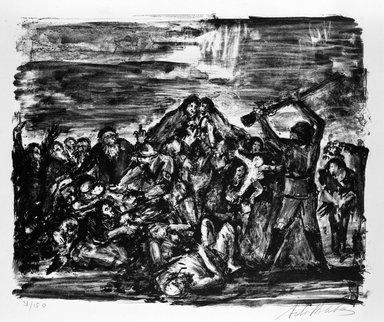 Arbit Blatas (American, born Lithuania, 1908-1999). Babi Yar, ca. 1944. Lithograph on paper, Sheet: 19 3/4 x 25 3/8 in. (50.2 x 64.5 cm). Brooklyn Museum, Anonymous gift, 75.215.1. © Estate of Arbit Blatas