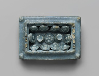 House Model, 12th - 13th century. Ceramic; fritware, molded with a turquoise glaze, 1 1/2 x 3 3/4 x 5 5/8 in. (3.8 x 9.5 x 14.3 cm). Brooklyn Museum, Gift of Dr. and Mrs. Lewis M. Fraad, 75.3. Creative Commons-BY