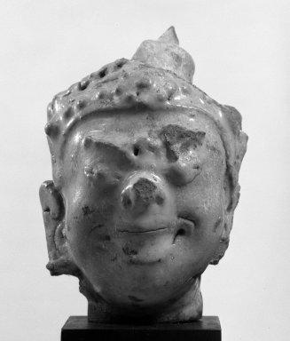 Sawankhalok Gleazed Head of a Deva, 14th century. Stoneware, 3 5/8 x 2 1/4 in. (9.2 x 5.7 cm). Brooklyn Museum, Designated Purchase Fund, 75.62.5. Creative Commons-BY