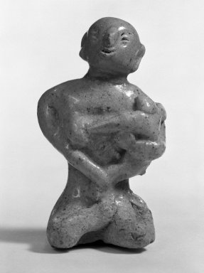 Sawankhalok Cedadon Maternity Figure Seated on Floor, 14th century. Stoneware, 3 7/16 x 2 1/8 in. (8.7 x 5.4 cm). Brooklyn Museum, Designated Purchase Fund, 75.62.8. Creative Commons-BY