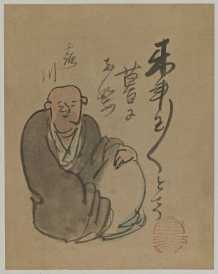 Yokoi Kinkoku (Japanese, 1761-1832). Portrait of the Poet Rosen, 18th Century. Ink and color on paper, Image: 8 7/8 x 6 7/8 in. (22.5 x 17.5 cm). Brooklyn Museum, Designated Purchase Fund, 75.63