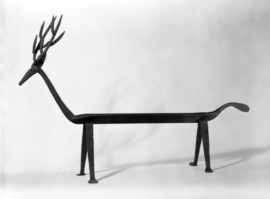 Deer. Wrought iron, 24 1/2 x 8 1/2 x 31 in. (62.2 x 21.6 x 78.7 cm). Brooklyn Museum, Gift of Morton D. May, 75.85. Creative Commons-BY