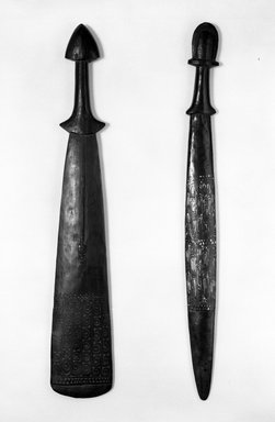 Staff. Wood, 31 in. (78.7 cm). Brooklyn Museum, Purchased with funds given by The Evelyn A. Jaffe Hall Charitable Trust, 76.1.4. Creative Commons-BY