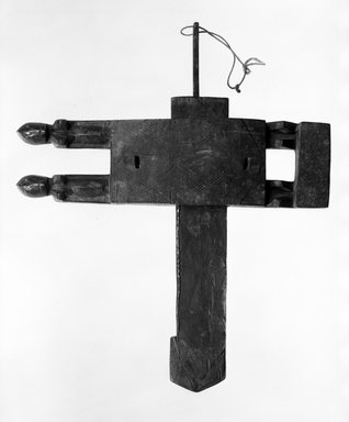 Dogon. Door Lock, late 19th or early 20th century. Wood, iron, 16 3/4 x 19 3/4 x 2 in. (42.5 x 50.1 x 5.0 cm). Brooklyn Museum, Gift of Dr. and Mrs. Abbott A. Lippman, 76.131.1a-c. Creative Commons-BY
