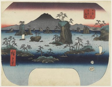 Utagawa Hiroshige (Ando) (Japanese, 1797-1858). Matsushima in Oshu Province, ca. 1855 (design); impression later. Woodblock print, Width: 11 5/8 in. (29.5 cm). Brooklyn Museum, Anonymous gift, 76.151.10