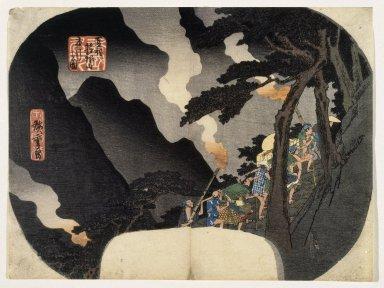 Utagawa Hiroshige (Ando) (Japanese, 1797-1858). Shokoku Meisho Series, 19th century. Woodblock print, Width: 11 3/4 in. (29.8 cm). Brooklyn Museum, Anonymous gift, 76.151.12