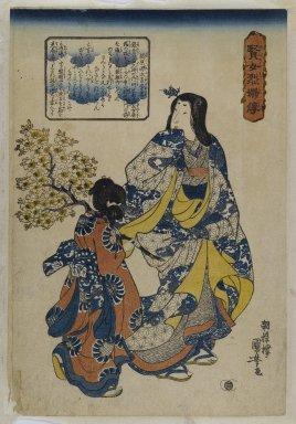 Utagawa Kuniyoshi (Japanese, 1797-1861). Kajiwara Gendo Kage Suye, 19th century. Woodblock print, 14 3/8 x 9 7/8 in. (36.5 x 25.1 cm). Brooklyn Museum, Anonymous gift, 76.151.17