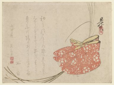 Shibata Zeshin (Japanese, 1807-1891). Surimono, 19th century. Woodblock print, 5 1/2 x 7 3/8 in. (14 x 18.7 cm). Brooklyn Museum, Anonymous gift, 76.151.23