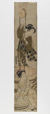 Isoda Koryusai (Japanese, ca. 1766-1788). Hashira-e, 18th century. Woodblock print, 23 3/4 x 5 in. (60.3 x 12.7 cm). Brooklyn Museum, Anonymous gift, 76.151.32