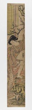 Isoda Koryusai (Japanese, ca. 1766-1788). Hashira-e, 18th century. Woodblock Print, 24 3/4 x 4 3/8 in. (62.9 x 11.1 cm). Brooklyn Museum, Anonymous gift, 76.151.33