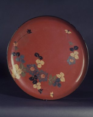 Tray, 18th-19th century. Lacquered wood, 1 1/4 x 14 in. (3.2 x 35.6 cm). Brooklyn Museum, Designated Purchase Fund, 76.155.2. Creative Commons-BY