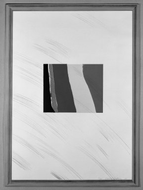 David Hockney (British, born 1937). Picture of a Pointless Abstraction Framed Under Glass, 1965. Lithograph in six colors on wove paper, 30 1/4 x 22 1/4 in. (76.8 x 56.5 cm). Brooklyn Museum, Gift of Wendy F. Findlay, 76.16.4. © David Hockney