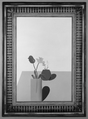 David Hockney (British, born 1937). Picture of a Still Life That Has an Elaborate Silver Frame, 1965. Lithograph in seven colors on wove paper, 30 1/4 x 22 1/4 in. (76.8 x 56.5 cm). Brooklyn Museum, Gift of Wendy F. Findlay, 76.16.6. © David Hockney