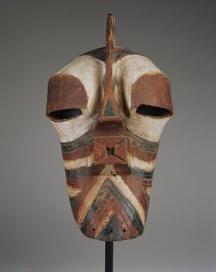 Songye. Mask (Kifwebe), late 19th or early 20th century. Wood, pigment, 19 x 11 1/2 x 11 1/2 in. (48.3 x 29.2 x 29.2 cm). Brooklyn Museum, Gift of Rosemary and George Lois, 76.165. Creative Commons-BY