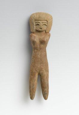 Valdivia. Female Figurine, 2600-1500 B.C.E. Ceramic, 4 5/16 x 1 1/8 x 5/8 in. (11 x 2.9 x 1.6 cm). Brooklyn Museum, Gift of Egizia Modiano, 76.166.41. Creative Commons-BY