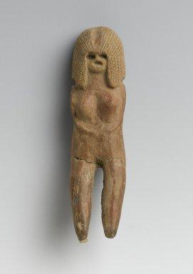 Valdivia. Female Figurine, 2600-1500 B.C.E. Ceramic, 3 1/2 x 15/16 x 3/4 in. (8.9 x 2.4 x 1.9 cm). Brooklyn Museum, Gift of Egizia Modiano, 76.166.42. Creative Commons-BY