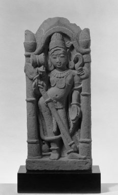 Architectural Fragment Depicting Siva in a Pillared Niche, ca. 12th-13th century. Sandstone, 23 x 9 1/2 in. (58.4 x 24.1 cm). Brooklyn Museum, Gift of Martha M. Green, 76.179.2. Creative Commons-BY
