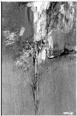 Budd Hopkins (American, 1931-2011). Untitled, 1960. Oil on Bristol board, 14 1/2 x 11 1/2 in. (36.8 x 29.2 cm). Brooklyn Museum, Gift of Paul F. Walter, 76.196.3. © Estate of Budd Hopkins