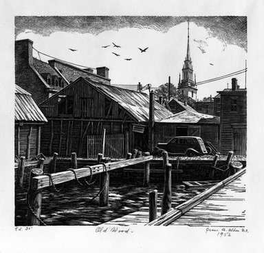 Grace Arnold Albee (American, 1890-1995). Old Wood, 1952. Wood engraving on vellum, 6 x 6 5/8 in. (15.2 x 16.8 cm). Brooklyn Museum, Gift of the artist, 76.198.47. © Estate of Grace Arnold Albee
