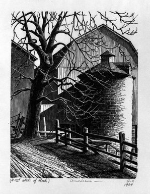 Grace Arnold Albee (American, 1890-1995). Americana, 1964. Wood engraving on paper, 6 1/4 x 4 3/4 in. (15.9 x 12.1 cm). Brooklyn Museum, Gift of the artist, 76.198.63. © Estate of Grace Arnold Albee