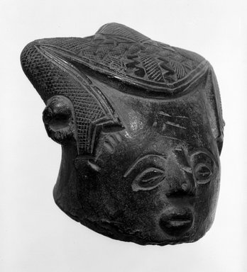 Kuba. Human Head Paste Block (Bongotol), late 19th or early 20th century. Tukula, H. at sides: 4 in. (10.2 cm). Brooklyn Museum, Carll H. de Silver Fund, 76.19. Creative Commons-BY
