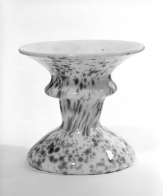Candlestick, possibly 19th century. Glass, 2 7/8 x 2 3/4 x 3 in. (7.3 x 7 x 7.6 cm). Brooklyn Museum, The C. Helme and Alice B. Strater Collection, Gift of C. Helme Strater, Jr., John B. Strater, and Margaret S. Robinson, 76.34.11. Creative Commons-BY