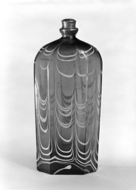 Bottle and Top, possibly 18th century. Glass, Pewter, Other: 2 1/2 x 1 5/8 in. (6.4 x 4.1 cm). Brooklyn Museum, The C. Helme and Alice B. Strater Collection, Gift of C. Helme Strater, Jr., John B. Strater, and Margaret S. Robinson, 76.34.14a-b. Creative Commons-BY