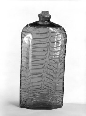 Bottle, possibly 18th century. Glass, pewter., 7 3/8 in. (18.7 cm). Brooklyn Museum, The C. Helme and Alice B. Strater Collection, Gift of C. Helme Strater, Jr., John B. Strater, and Margaret S. Robinson, 76.34.15. Creative Commons-BY