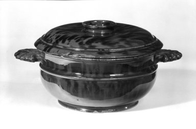 Bowl with Cover, 19th century. Earthenware, 3 3/4 x 8 x 10 3/4 in. (9.5 x 20.3 x 27.3 cm). Brooklyn Museum, The C. Helme and Alice B. Strater Collection, Gift of C. Helme Strater, Jr., John B. Strater, and Margaret S. Robinson, 76.34.3a-b. Creative Commons-BY