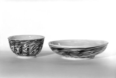 Cup and Saucer, 18th century - ?. Glass, 1 3/4 x 3 3/16 in. (4.4 x 8.1 cm). Brooklyn Museum, The C. Helme and Alice B. Strater Collection, Gift of C. Helme Strater, Jr., John B. Strater, and Margaret S. Robinson, 76.34.6a-b. Creative Commons-BY