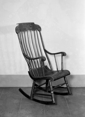 Hitchcock and Alford & Company. Rocking Chair, ca. 1832- 1843. Wood, paint, 61 x 19 5/8 in. (154.9 x 49.8 cm). Brooklyn Museum, H. Randolph Lever Fund, 76.35. Creative Commons-BY