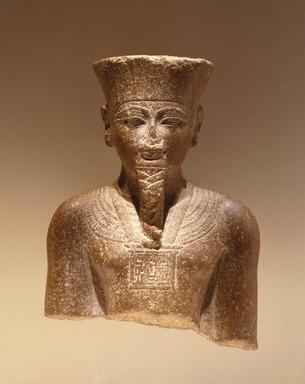 Amun-Re or King Amunhotep III, 1403-1365 B.C.E. Quartzite, 7 11/16 x 5 5/8 x 3 15/16 in. (19.5 x 14.3 x 10 cm). Brooklyn Museum, Charles Edwin Wilbour Fund, 76.39. Creative Commons-BY