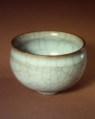 Miura Koheiji (Japanese, 1933-2006). Kuan Ware Celadon Rice-wine Cup, ca. 1975. Kuan ware with light blue celadon glaze, 1 7/8 x 2 7/8 in. (4.8 x 7.3 cm). Brooklyn Museum, Gift of Sidney B. Cardozo, Jr., 76.42.7. Creative Commons-BY