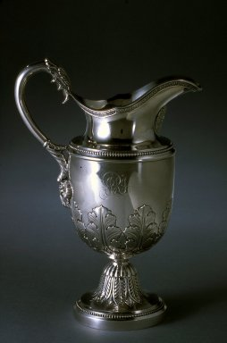 Thomas Fletcher. Pitcher, ca. 1827-1835. Silver, 8 5/8 x 3 1/2 x 6 1/8 in. (21.9 x 8.9 x 15.6 cm). Brooklyn Museum, H. Randolph Lever Fund, 76.6. Creative Commons-BY