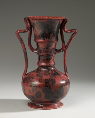 George E. Ohr (American, 1857-1918). Vase, ca. 1900. Glazed earthenware, H: 9 1/4 in. (23.5 cm). Brooklyn Museum, H. Randolph Lever Fund, 76.64. Creative Commons-BY