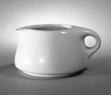 Russel Wright (American, 1904-1976). Cream Pitcher, ca. 1945. Vitreous china, 2 1/2 in. (6.4 cm). Brooklyn Museum, Gift of Russel Wright, 76.99.12. Creative Commons-BY