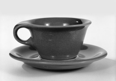 Russel Wright (American, 1904-1976). Cup and Saucer, ca, 1945. Glazed china, 6 3/8 in. (16.2 cm). Brooklyn Museum, Gift of Russel Wright, 76.99.35a-b. Creative Commons-BY